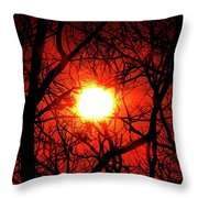 Sunset In Virginia Throw Pillow