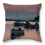 Sunset In West Falmouth Throw Pillow