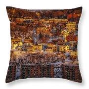 Sunset In Winter Throw Pillow