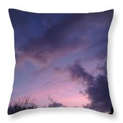 Sunset In Winter Skies  Throw Pillow