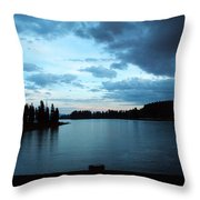 Sunset In Wyoming Throw Pillow