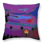 Sunset In Your Colorful Moon Throw Pillow