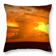 Sunset Indian Ocean Throw Pillow