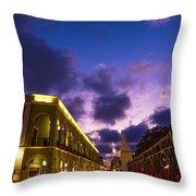 Sunset It Campeche City Downtown Throw Pillow
