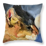 Sunset Kitty Throw Pillow