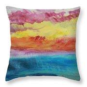 Sunset Lagoon Throw Pillow