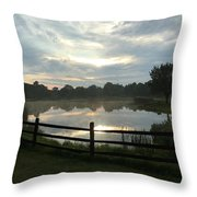 Sunset Lake Throw Pillow