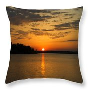 Sunset Lake Pat Mayse From Sanders Cove Throw Pillow