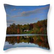 Sunset Lake View Throw Pillow