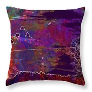 Sunset Landscape Lake Sky  Throw Pillow
