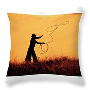 Sunset Lariat 4 Throw Pillow
