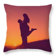 Sunset Love Throw Pillow