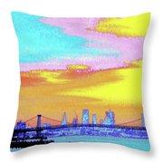 Sunset Lower Manhattan 2c5 Throw Pillow