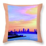 Sunset Lower Manhattan 2c2 Throw Pillow