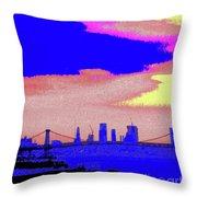 Sunset Lower Manhattan 2c7 Throw Pillow