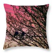 Sunset Lovers Throw Pillow