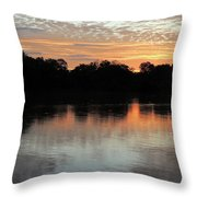 Sunset, Luangwa River, Zambia Throw Pillow
