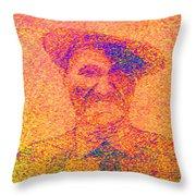 Sunset Man Throw Pillow