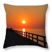 Sunset Marathon Throw Pillow