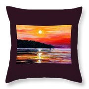 Sunset Melody Throw Pillow
