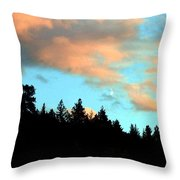 Sunset Moon Throw Pillow