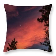 Sunset - Moonrise Throw Pillow