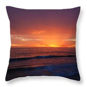 Sunset Near Carpinteria Throw Pillow