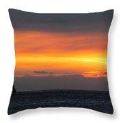Sunset Near Doubtful Sound Throw Pillow