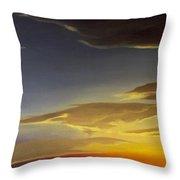 Sunset Near Rowlett Throw Pillow