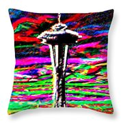 Sunset Needle 2 Throw Pillow