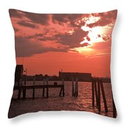 Sunset Newport Rhode Island Throw Pillow