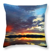 Sunset Of Colors Throw Pillow