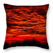 Sunset Of New Mexico Throw Pillow by Savannah Fonner