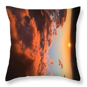 Sunset Of The West Throw Pillow