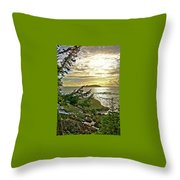 Sunset Off Vancouver Island Throw Pillow