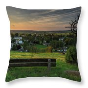 Sunset On A Beautiful Place Throw Pillow
