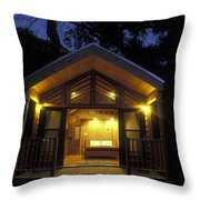 Sunset On A Cabin At El Capitan Canyon Throw Pillow