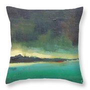 Sunset On Blue Danube Throw Pillow