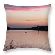 Sunset On C And D Throw Pillow