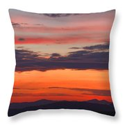 Sunset On Caney Fork Overlook Throw Pillow