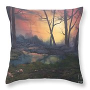 Sunset On Cannock Chase  Throw Pillow