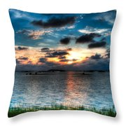 Sunset On Cedar Key Throw Pillow