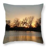 Sunset On Elk Throw Pillow