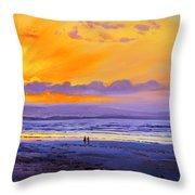 Sunset On Enniscrone Beach County Sligo Throw Pillow