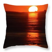 Sunset On February 26-2018 Over Barrie  Throw Pillow