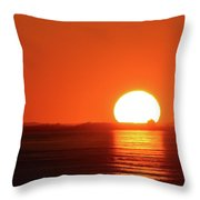 Sunset On February 26-2018 Over Barrie Two  Throw Pillow