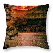 Sunset On Fire Throw Pillow