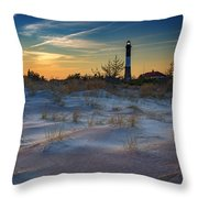 Sunset On Fire Island Throw Pillow
