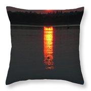 Sunset On Friendship Throw Pillow