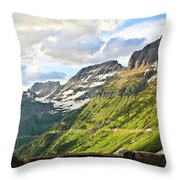 Sunset On Going To The Sun Road Throw Pillow